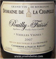Pouilly Fuisse FAVE!