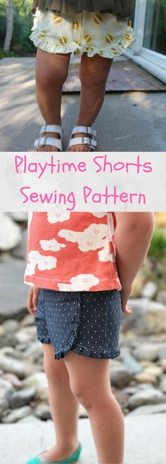 Triple Playtime Shorts Sewing Pattern PDF, Shorts Pattern for Girl, Girl Sewing Pattern for Kid, pdf Girl Sewing Pattern, Woven/Knit Pattern, Pattern Available for Download after Purchase #ad