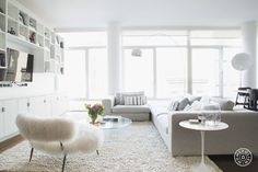 """A Minimal, White, Fluffy and Pretty Perfect Chelsea Apartment - As founder and creative director of ecommerce site <a href=""""https://www.indelust.com/"""" target=""""_blank"""">Indelust</a>, Sana has exceptional taste"""