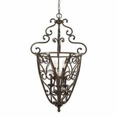 Golden Lighting 4002CG6 RSB 23Inch W by 40Inch H Loretto Caged Foyer Russet Bronze Finish -- Find out more about the great product at the image link. Note: It's an affiliate link to Amazon