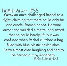 Ha!<~~ A simple ha cannot express the level of pure awesomeness this one simple headcanon conveys.