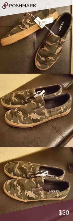 Camouflage Canvas Slip on Sneakers Canvas slip on sneakers in camo. Men sizes only Old Navy Shoes Sneakers