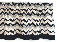 Kitchen Curtain Natural/Onyx Chevron Pattern/Zigzag by LaRicaHome, $34.95