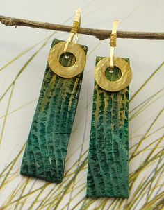 Nile earrings polymer clay by Stories They Tell, via Flickr