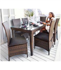 Gartenmöbel-Set »Nizza« (13-tlg.) - das Gartenmöbelset in modernster Rattan-Optik und der Hingucker Ihres Gartens oder auch der Terrasse!