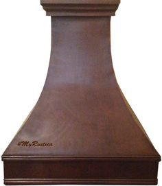 Simple style Copper Range Hood for a tall ceiling kitchen finished with dark patina. #rangehoods #copperrangehoods #myCustomMade