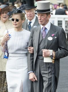 Lady Helen Taylor and Prince Edward, Duke of Kent attend Day 4 of Royal Ascot 2014