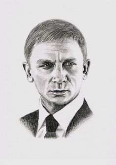 "Drawing of Daniel Craig - studio ""Zeichenfuchs"" Cologne/Germany"