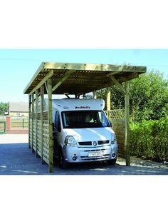 carport camping car en bois dpica 340 x 760 x h 370 cm carports pinterest boat storage car ports and outdoor living