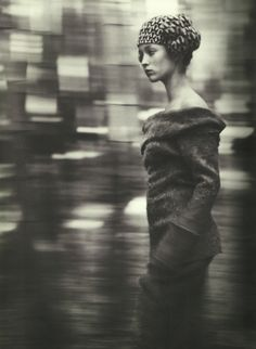 """voguelovesme: Audrey Marnay in """"Talking to Myself,"""" Yohji Yamamoto"""