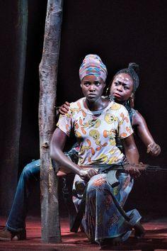 Lupita Nyong'o and Zainab Jah in Eclipsed. Broadway. 2016