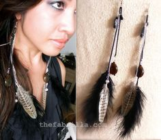 DIY: Feather & Chain Long Earrings