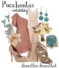 Pocahontas themed jewelry for my something blue! Disney Dress Up, Disney Clothes, Disneybound Outfits, Disney Themed Outfits, Disney Inspired Fashion, Disney Fashion, Estilo Disney, Character Inspired Outfits, Fandom Fashion