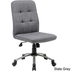 Improve the look and functionality of your office space with this ergonomic office chair by Boss. Designed to keep you comfortable as you work, this armless office chair features a generously quilted