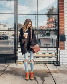 casual winter look Plaid Fashion, Tomboy Fashion, Look Fashion, Girl Fashion, Fashion Outfits, Casual Outfits, Mode Chic, Mode Style, Fall Winter Outfits