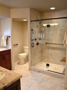 6 Engaging Cool Ideas: Shower Remodel Ideas Walk In corner shower remodel on a budget.Small Shower Remodel Shelves shower remodeling ideas with bench.Stand Up Shower Remodel Modern. Toilet Closet, Bathroom Closet, Small Bathroom, Budget Bathroom, White Bathroom, Basement Closet, Basement Bedrooms, Basement Bathroom Ideas, Dark Basement