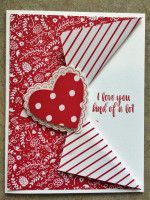Heart Flutter by die cut diva - Cards and Paper Crafts at Splitcoaststampers - Splitcoaststampers FOOGallery – Hearts a Flutter - Valentines Day Cards Handmade, Valentine Crafts, Greeting Cards Handmade, Love Cards Handmade, Handmade Rugs, Handmade Crafts, Fancy Fold Cards, Stamping Up Cards, Paper Cards