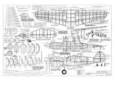 Curtiss P-40E - plan thumbnail