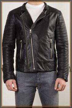 Mens Leather Jacket Stylish Genuine Lambskin MJ146