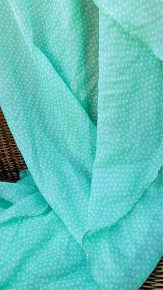 Fular verde con estrellas 6,93€ CMK Lavender, Mint, Turquoise, Green, Vestidos, Green Silk, Mint Green, Ponchos, Stars