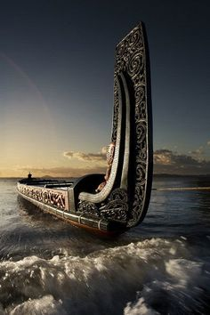 Waka+(canoe),+New+Zealand