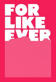 For Like Ever Poster, Fluro Pink - contemporary - artwork - by Super Rural