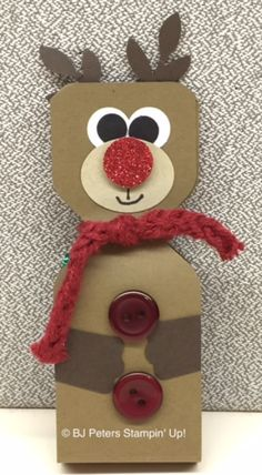Reindeer with the envelope punch board