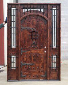 The Vienna - Rustic Doors - Exterior Wood Doors Exterior Doors With Sidelights, Wood Exterior Door, Rustic Exterior, Arched Doors, Internal Doors, Panel Doors, Entry Doors, Front Entry, Interior Doors For Sale
