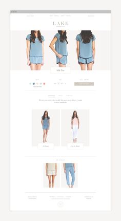 LAKE Weekend Wear ecommerce website by Nudge