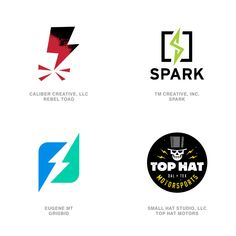 2020 LogoLounge Trend Report: Lightning Bolts #logo #lightning #bolt #electric #branding #design #spark Lightning Bolt Logo, Logo Design Trends, Branding Design, Design Ideas, Petri Dish, University Logo, Positive And Negative, Graphic Design Illustration, Articles