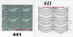 "Photo from album ""mar 1 15 on Yandex. Zig Zag Crochet, Crochet Chart, Crochet Motif, Free Crochet, Crochet Stitches Patterns, Stitch Patterns, Knitting Patterns, Vanessa Montoro, Irish Lace"