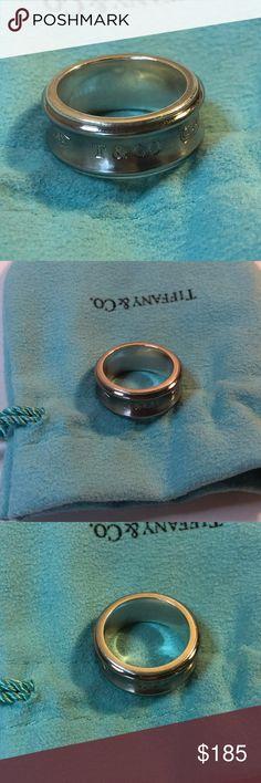 e2962c7ef 1837 Concave Titanium Band Ring 925 Ti Size 5.75 Tiffany & Co. 1837 Concave  Titanium