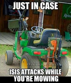 Note to my husband: you are NOT allowed to have this lawnmower! ;-)