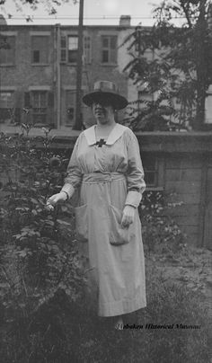 Photograph of Mary Henry Miller Markey during WWI in an American Red Cross volunteern uniform, ca. 1918-1920. (Hoboken Historical Museum)