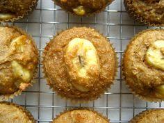 Healthy Chunky Banana Bran Muffins Recipe