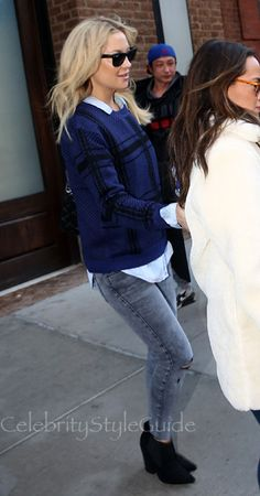 SHOP Lovers + Friends Lovers + Friends Lawrence Plaid Sweater As Seen On Kate Hudson