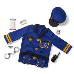 Police Officer Costume, Police Costume For Kids, Pretend Play, Role Play, Dress Up Outfits, Melissa & Doug, Barnet, Costume Dress, Cop Costume