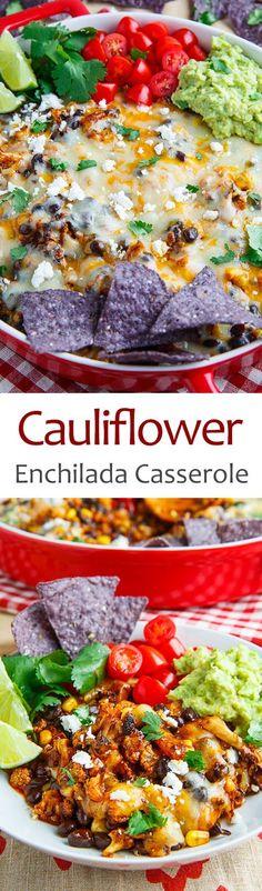 Cauliflower Enchilada Casserole More