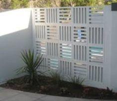 Inspiring breeze block wall fences ideas 14