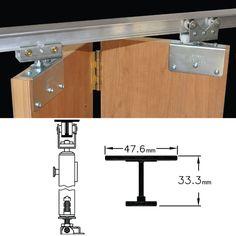 Johnson Hardware® 200FS BI-FOLDING DOOR HARDWARE Folding Door Hardware, Folding Doors, Spiral Staircase Plan, Outdoor Blinds, Wooden Doors, Construction, Diy Furniture, Woodworking, Sliding Door