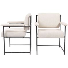 Pair of armchairs by Geraldo de Barros, c. 1955 -  manufactured by his company Unilabor.