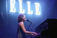Sarah McLachlan performing at Elle's Women In Music