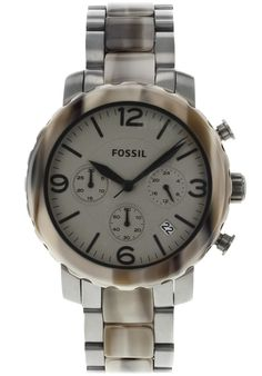 65d22f5dc4d Fossil Women s Natalie Chronograph Brown Dial Gold Tone SS Fossil Watches