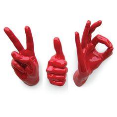 Wear coats red hands