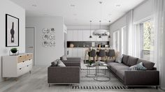 Gorgeous home design with contemporary theme... | Visit : roohome.com