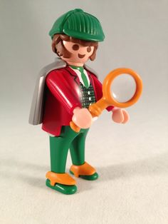 Playmobil - Victorian Sherlock Holmes 4501, Detective with Magnifying Glass - vintage early 1990's.  Sold on Ebay for $26.99 + shipping.