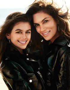 Cindy Crawford and her daughter Kaia Gerber by Mario Testino for Vogue Paris April 2016