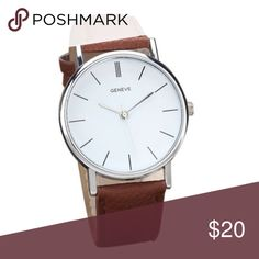 Brown Faux Leather Wrist Watch Brand New! Brown Faux Leather Wrist Strap. White Face.   ✨ NO TRADE ✨ PRICE IS FIRM ** ✨ BUNDLE & SAVE   Please do not hesitate to ask questions✨ Accessories Watches