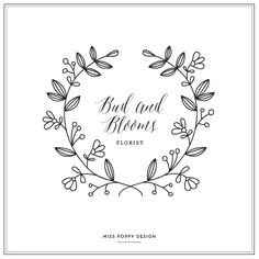 BUD & BLOOMS- PRE DESIGNED LOGO – Miss Poppy Design
