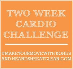 Two Week Cardio Challenge + GIVEAWAY!